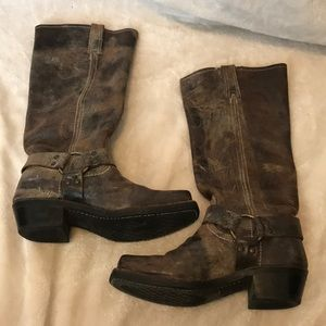 Brown tall Frye boots
